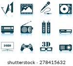 set of multimedia icon. eps 10... | Shutterstock .eps vector #278415632