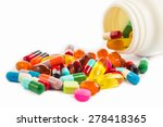 pills and capsules on white... | Shutterstock . vector #278418365