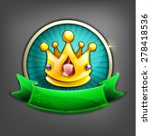 badges of gold crown. vector...