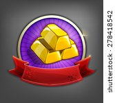 badges of gold bars. vector...
