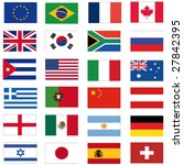 set of most important flags | Shutterstock .eps vector #27842395