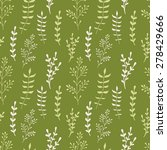 romantic floral seamless... | Shutterstock .eps vector #278429666