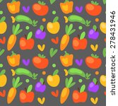 vector seamless pattern with... | Shutterstock .eps vector #278431946