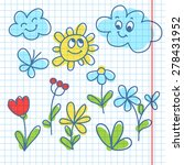 illustration with flowers ... | Shutterstock .eps vector #278431952