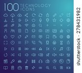 set of 100 technology icons  ... | Shutterstock .eps vector #278431982