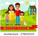 vector colorful illustration of ... | Shutterstock .eps vector #278432525