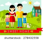 vector colorful illustration of ... | Shutterstock .eps vector #278432558
