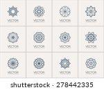 lineart ornamental logo... | Shutterstock .eps vector #278442335