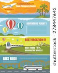 set of colorful travel banners...   Shutterstock .eps vector #278447642