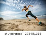 running woman  female runner... | Shutterstock . vector #278451398