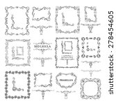 decorative elements. big set. ... | Shutterstock .eps vector #278454605