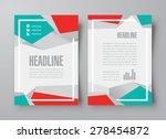 flyer brochure design template... | Shutterstock .eps vector #278454872