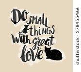calligraphic hand drawn...   Shutterstock .eps vector #278455466
