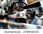 close up of espresso pouring... | Shutterstock . vector #278456525