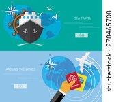 vector flat concept of world...   Shutterstock .eps vector #278465708