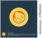 world globe icon  vector... | Shutterstock .eps vector #278469626