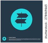 signpost icon  vector... | Shutterstock .eps vector #278469665