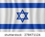 israel waving flag | Shutterstock .eps vector #278471126