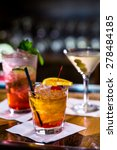 colorful cocktails on the bar... | Shutterstock . vector #278484185