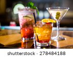 colorful cocktails on the bar... | Shutterstock . vector #278484188