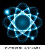blue shining atom scheme....   Shutterstock .eps vector #278485256