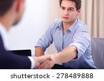 two business men shaking hands | Shutterstock . vector #278489888