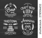 set of vintage logo templates... | Shutterstock .eps vector #278506652
