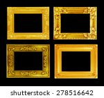 the antique gold frame on the... | Shutterstock . vector #278516642