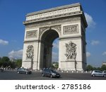 arc de triomphe monument  paris | Shutterstock . vector #2785186