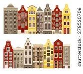 vector set of houses in the...   Shutterstock .eps vector #278530706