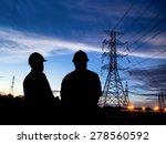 silhouette man of engineers...   Shutterstock . vector #278560592