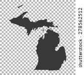 map of michigan | Shutterstock .eps vector #278562512