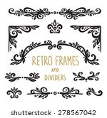 vintage ornamental calligraphic ... | Shutterstock .eps vector #278567042