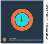 clock icon  vector illustration....