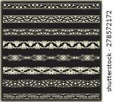 vintage border set for design  | Shutterstock .eps vector #278572172
