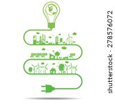 green ecology city... | Shutterstock .eps vector #278576072