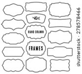 set of vintage contour blank... | Shutterstock .eps vector #278578466