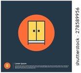 cupboard wardrobe icon  vector...