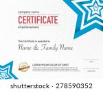 certificate business and... | Shutterstock .eps vector #278590352
