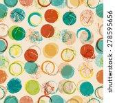 vector seamless dotted pattern . | Shutterstock .eps vector #278595656