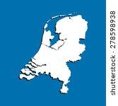 map of netherlands | Shutterstock .eps vector #278598938