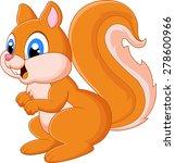 cartoon adorable squirrel | Shutterstock .eps vector #278600966