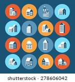 flat colored building urban... | Shutterstock .eps vector #278606042