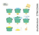 set  icons for instruction.... | Shutterstock .eps vector #278612666
