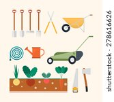 isolated garden and farm set ... | Shutterstock .eps vector #278616626