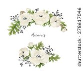 watercolor set with floral... | Shutterstock . vector #278617046