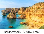 a view of a praia da rocha in... | Shutterstock . vector #278624252