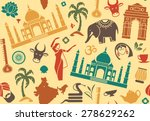 seamless background on a theme... | Shutterstock .eps vector #278629262