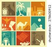 egyptian symbols | Shutterstock .eps vector #278630912