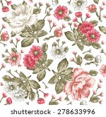 beautiful pink white baroque... | Shutterstock .eps vector #278633996